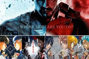 Civil War x Weekly Shōnen Magazine: le illustrazioni esclusive per la promozione del film.